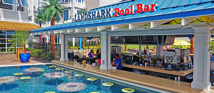 River Spirit Casino Landshark Pool Bar
